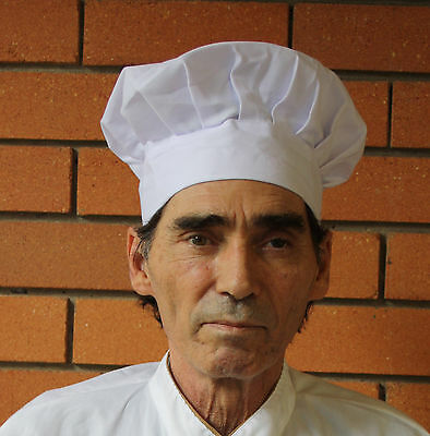 Adult  Baker BBQ Kitchen Cooking Hat  White Chef Hat  Elastic