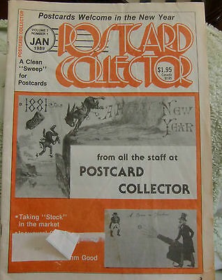 Postcard Collector Magazine Vol7 No1 New Year  Campbell Soup Inaugural Market