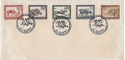 1946 Austria Race Set Stamps First Day Cover