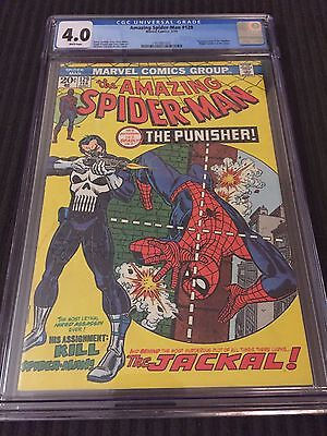 Amazing Spider-Man 129 CGC 4.0 WHITE Pages First Punisher App Looks Higher Grade