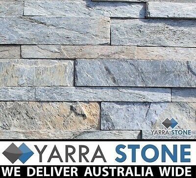 Stack stone / Natural Stone wall Cladding / Stacked Stone - Silver Shine