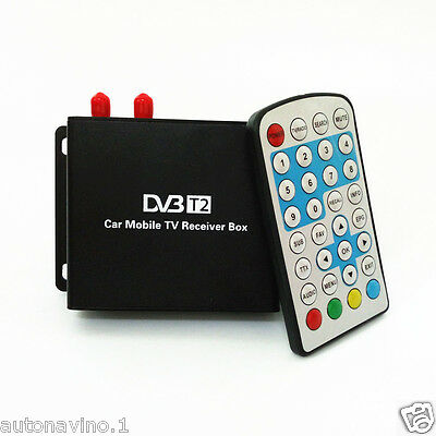 DVB-T2 two tuner active antenna Digital TV Receiver SD/HD MPEG2&MPEG4 AVC H.264