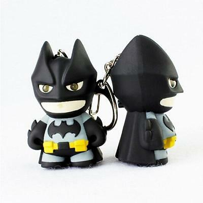 1PC Cartoon Batman Light Up LED Torch With sound Keyring KeyChain Cool Gift LH