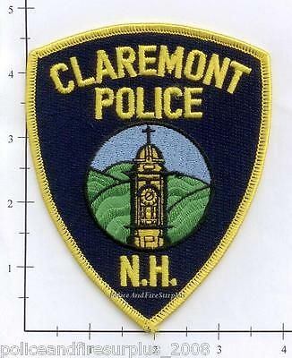 New Hampshire - Claremont NH Police Dept Patch v1 - Yellow border