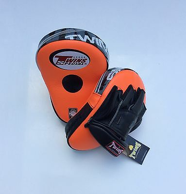 Twins Special Orange Pml-10 Deluxe Curved Focus Mitts.
