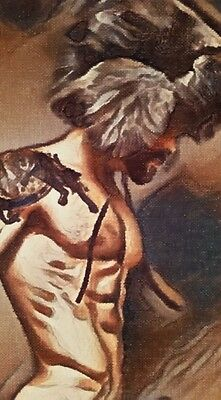 """ORIGINAL Nude Male Gay Interest-Acrylic on Canvas Painting-""""The Viking"""""""