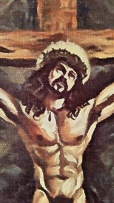 """ORIGINAL Nude Male Gay Interest-Acrylic on Canvas Painting-""""Crown of Thorns"""""""