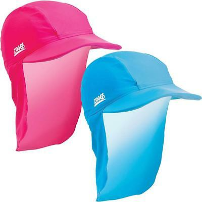 New Zoggs Sun Hat In Navy & Pink - Swimming Hat For Kids For Pool Swim