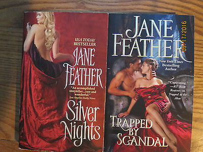 Lot 2 pbs-JANE FEATHER: Silver Nights (1989), Trapped By Scandal (2015)