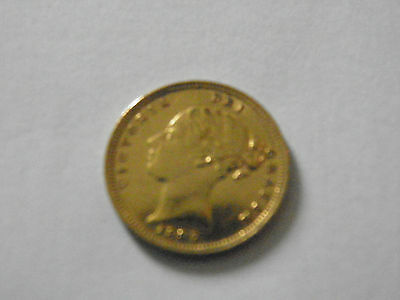 1887 GOLD HALF SOVEREIGN yong head very rare coin dropped price