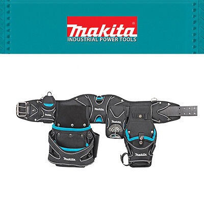 Genuine Makita Carpenter Electrician Construction Utility Tool Belt with Pouches