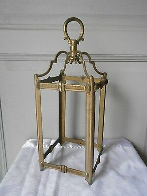 Antique French Brass Architectural Cage of a lantern