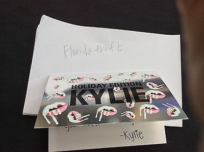 Kylie Cosmetics Holiday edition Greeting Card ONLY- NO Makeup