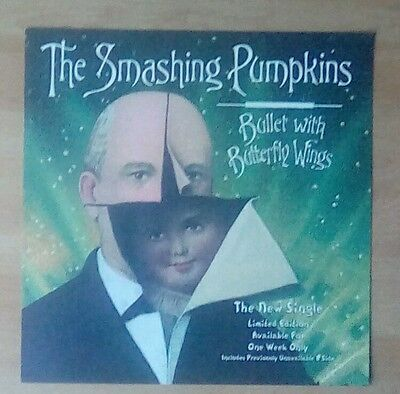 "SMASHING PUMPKINS -Promotional 12""x12"" Display (Flat) Bullet With Butterfly Wing"
