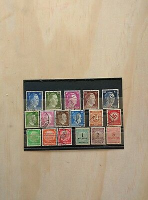One lot of seventen Germany stamps