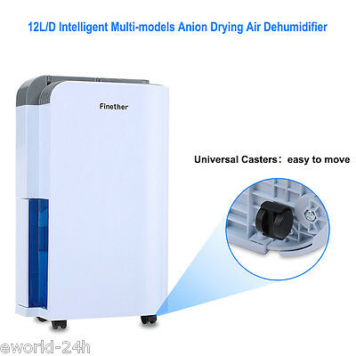 12L/D Air Dehumidifier Anion Air Purify Damp Mould Home Kitchen Energy Saving
