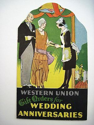 "Vintage 1930s Art Deco Advertising for ""Western Union Gift Orders""  *"