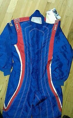 Sparco K28 SUITE, Blue Red Size 58 K28, CIK-FIA 2019 Kart,GoKart,Race,Rally