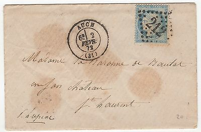 France 1872 cover with letter