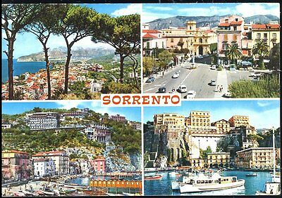 Postcard - Sorrento  Italy - 4 Views Posted 1976 Stamps