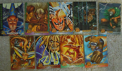 9 x Fleer X-MEN Trading Card Lot (1996)