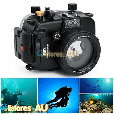 【AU】40M 130ft Underwater Waterproof Housing Diving Case For Canon G5X Camera