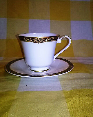 Royal Doulton TENNYSON CUP and SAUCER   Red Gold