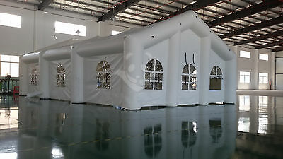 10mL x5mW x3mH PORTABLE GIANT INFLATABLE TENT WEDDING BOOTH ADVERTISING HOT AIR