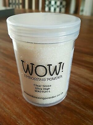Wow! Embossing Powder. Clear Gloss.