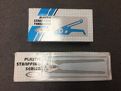 """12MM 1/2"""" Plastic Strapping tensioner and sealer new and still in box"""
