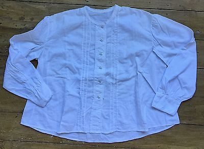 Vintage sheer cotton and lace shirt blouse french style a-line flare body top