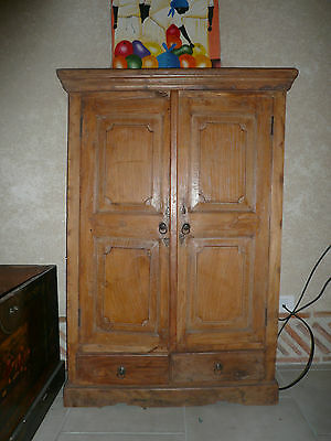 ancienne armoire indienne eur 300 00 picclick fr. Black Bedroom Furniture Sets. Home Design Ideas