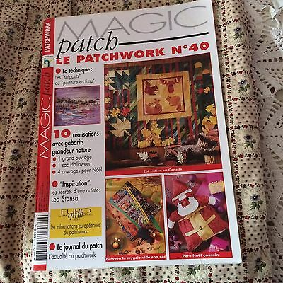 patchwork ,magic patch N°40 avec gabarits ,complet TBE