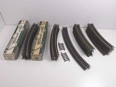 French Hornby acHO Assorted Curved Track (Some Boxed)