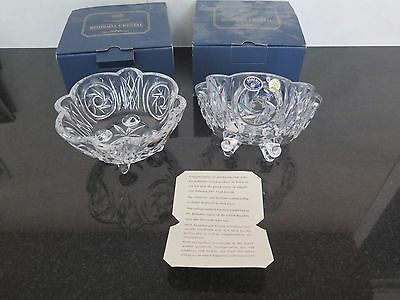 BOHEMIA CRYSTAL 4FTD BOWL 15CM FULL LEAD CRYSTAL 24% PbO Made in Czech x 2