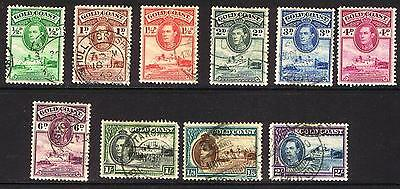 Gold Coast KGVI 1938 Definitives - SS - Used