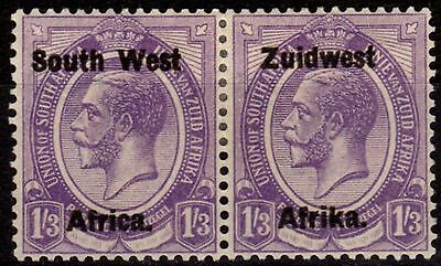 South West Africa 1923 1s3d Pale Violet SG23 Setting III Fine Fresh Lightly Mtd
