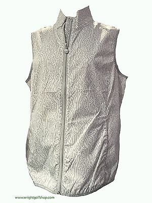 **NEW** DAILY SPORTS 'ESSENCE' GILET  size X LARGE  colour SILVER GREY/WHITE