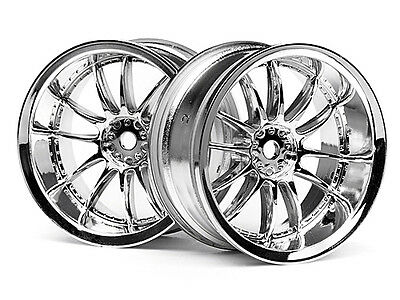 HPI Work Xsa 02c Wheel 26mm Chrome (6mm Offset) #3281