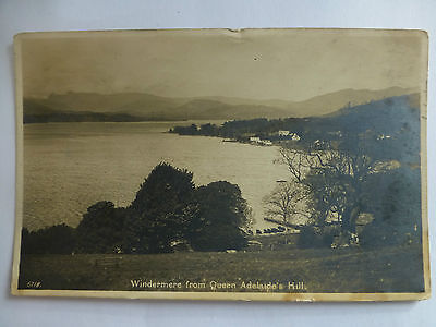 Windemere from Queen Adelaides Hill - Old Cumbria Postcard