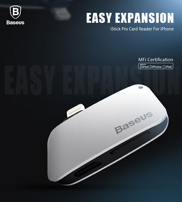 Baseus Portable Card Reader MFi Certificated with 32G Storage Card for iPhone