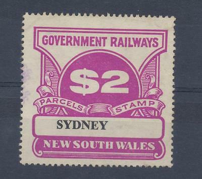 NSW $2 Railway Parcels Stamp SYDNEY used