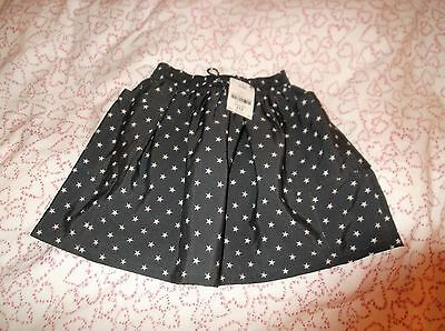 Next Girls Grey Star Skater Style Skirt Age 4 New with tags RRP £12.00