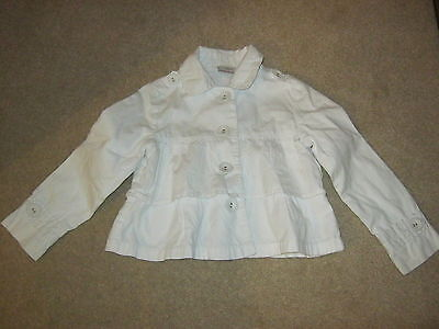 Next White Frilled Jacket Age 3-4