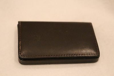 brown leather business card holder CBS Paramount