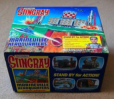 Matchbox Stingray Marineville HQ. Superb Set 100% complete. Boxed.