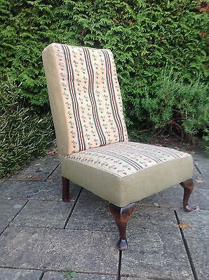 Vintage / Antique Nursing Chair With Taperstry Style Fabric