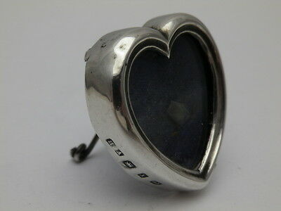 Antique Solid Silver Small Heart Shaped Photograph Frame B'Ham 1897 (636-6-YOE)