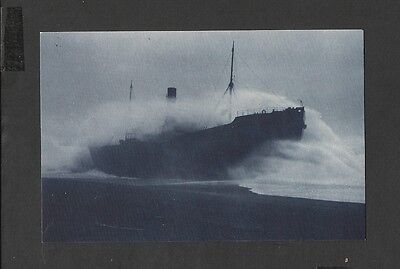 Nostalgia Postcard S.S. Tripolitania Caught in Worst Storm for fifty Years 1912