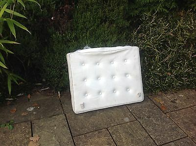 Barcelona type Chair white leather Cushion Cover & cushion for spares/upcycling